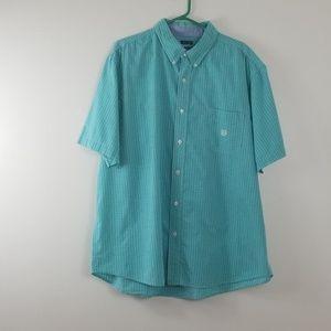 Chaps Short Sleeve Button Up XL